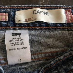 Levi's 515 Capri Jeans size 10 W30/L 20 1/2